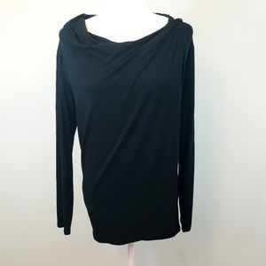 NWT Motherhood Maternity black draping nursing top